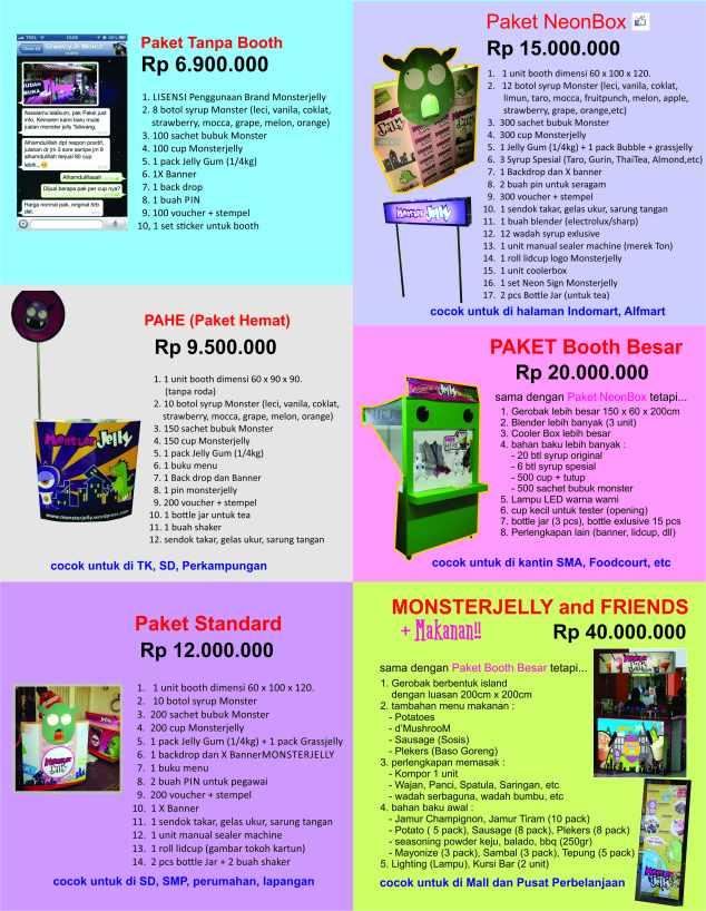 price list Monsterjelly Des 2014