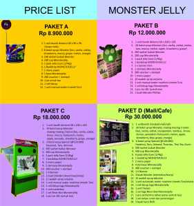 price list Monsterjelly Mei-Juni-Juli