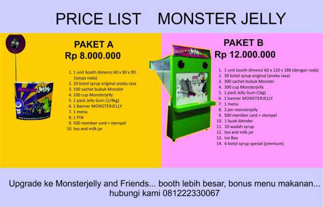 price list terbaru monsterjelly